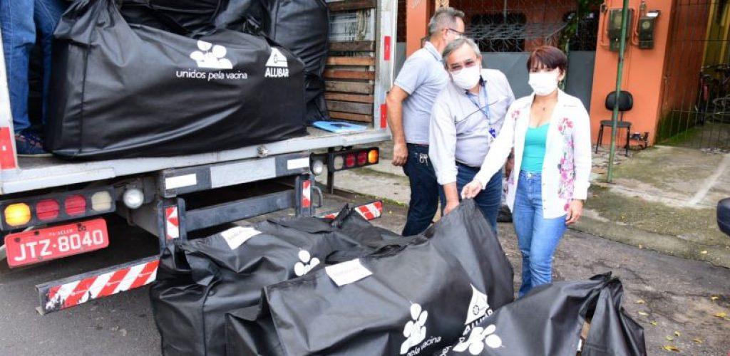 Alubar entrega doações para Secretaria de Saúde de Barcarena
