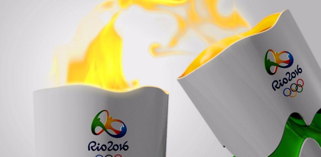 Tocha fogo olimpico