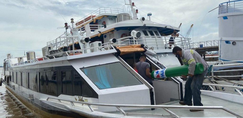 Transporte de oxigênio a 10 municípios do Baixo Amazonas. Foto-Governo do Pará (2)